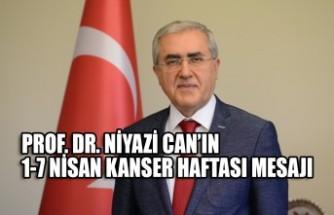 KSÜ  Rektörü PROF. DR. Niyazi Can'ın 1-7 Nisan Kanser Haftası Mesajı