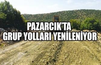 Pazarcık'ta Grup Yolları Yenileniyor