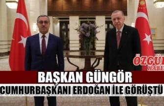 Başkan Güngör Cumhurbaşkanı Erdoğan İle Görüştü