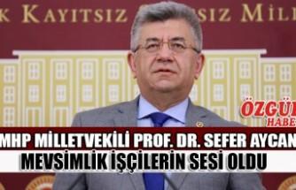 MHP Milletvekili Aycan Mevsimlik İşçilerin Sesi Oldu