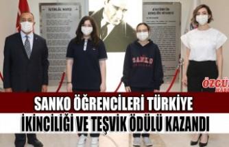 SANKO Öğrencileri Türkiye İkinciliği Ve Teşvik Ödülü Kazandı