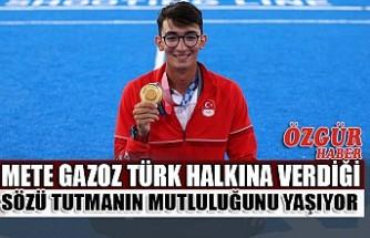 Mete Gazoz Türk Halkına Verdiği Sözü Tutmanın Mutluluğunu Yaşıyor