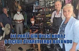 İYİ Parti GİK Üyesi Kodaz, 6 İlçede Ziyaretlerde Bulundu