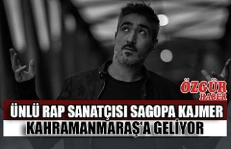 Ünlü Rap Sanatçısı Sagopa Kajmer Kahramanmaraş'a Geliyor