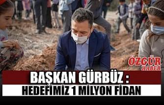 Başkan Gürbüz : Hedefimiz 1 Milyon Fidan