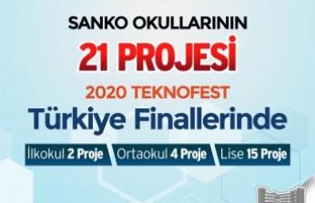 SANKO Okulları'nın 21 Projesi TEKNOFEST 2020 Finallerinde