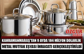 Kahramanmaraş'tan 9 Ayda 184 Milyon Dolarlık Metal Mutfak Eşyası İhracatı Gerçekleştirildi