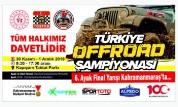 Türkiye Offroad Şampiyonası 30 Kasım'da Kahramanmaraş'ta