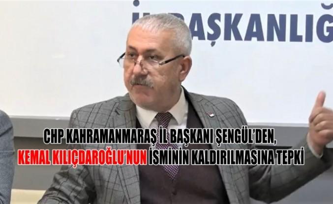 CHP İl Başkanı Şengül'den İsim Kaldırma Tepkisi