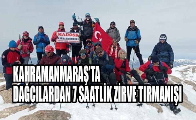 Kahramanmaraş'ta Dağcılardan 7 Saatlik Zirve Tırmanışı
