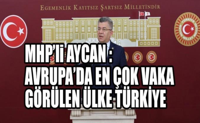 MHP'li Aycan :Avrupa'da En Çok Vaka Görülen Ülke Türkiye