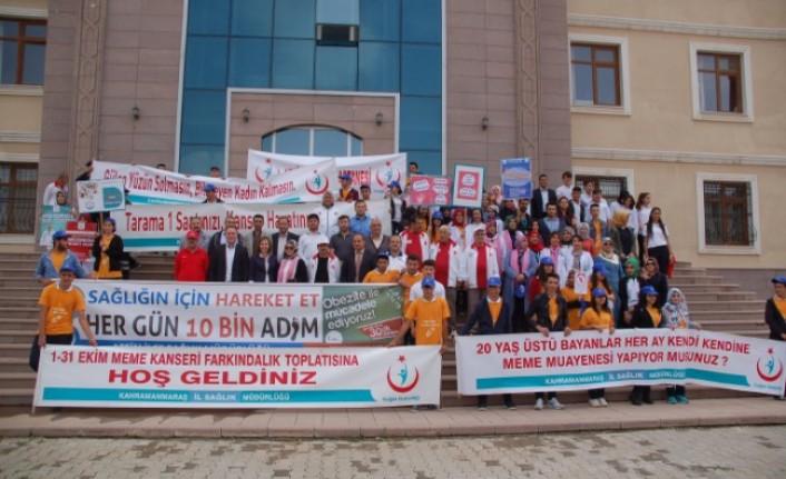 Afşin'de Dünya Yürüyüş Günü Etkinliği Düzenlendi