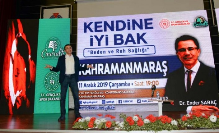 """Dr. Saraç, KSÜ'de """"Kendine İyi Bak"""" Konulu Seminer Verdi"""