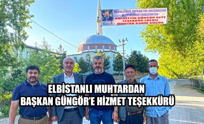 Elbistan'dan Başkan Güngör'e Hizmet Teşekkürü
