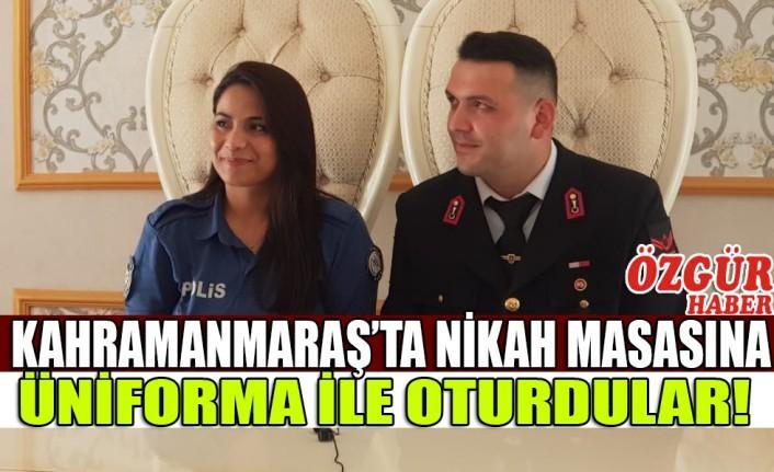 Kahramanmaraş'ta Nikah Masasına Üniforma İle Oturdular